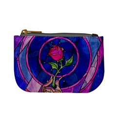 Enchanted Rose Stained Glass Mini Coin Purses by Onesevenart