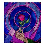 Enchanted Rose Stained Glass Shower Curtain 66  x 72  (Large)