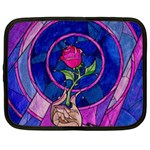 Enchanted Rose Stained Glass Netbook Case (XL)
