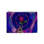 Enchanted Rose Stained Glass Cosmetic Bag (Medium)