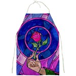 Enchanted Rose Stained Glass Full Print Aprons