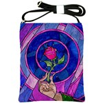 Enchanted Rose Stained Glass Shoulder Sling Bags