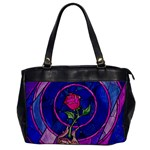 Enchanted Rose Stained Glass Office Handbags