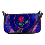 Enchanted Rose Stained Glass Shoulder Clutch Bags