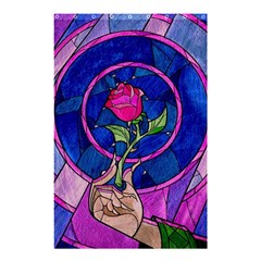 Enchanted Rose Stained Glass Shower Curtain 48  X 72  (small)  by Onesevenart