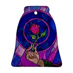 Enchanted Rose Stained Glass Bell Ornament (2 Sides)