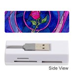 Enchanted Rose Stained Glass Memory Card Reader (Stick)