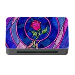 Enchanted Rose Stained Glass Memory Card Reader with CF