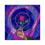 Enchanted Rose Stained Glass Acrylic Tangram Puzzle (6  x 6 )