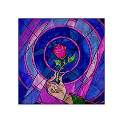 Enchanted Rose Stained Glass Acrylic Tangram Puzzle (4  X 4 ) by Onesevenart