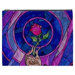 Enchanted Rose Stained Glass Cosmetic Bag (XXXL)