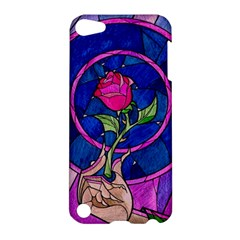 Enchanted Rose Stained Glass Apple Ipod Touch 5 Hardshell Case by Onesevenart