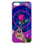 Enchanted Rose Stained Glass Apple Seamless iPhone 5 Case (Clear)