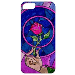 Enchanted Rose Stained Glass Apple Iphone 5 Classic Hardshell Case by Onesevenart