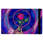 Enchanted Rose Stained Glass Apple iPad 2 Flip Case