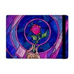 Enchanted Rose Stained Glass Apple iPad Mini Flip Case