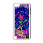Enchanted Rose Stained Glass Apple iPod Touch 5 Case (White)