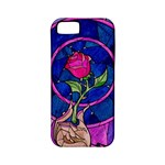 Enchanted Rose Stained Glass Apple iPhone 5 Classic Hardshell Case (PC+Silicone)