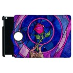 Enchanted Rose Stained Glass Apple iPad 2 Flip 360 Case