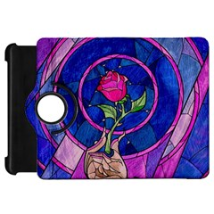 Enchanted Rose Stained Glass Kindle Fire Hd Flip 360 Case by Onesevenart