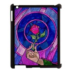 Enchanted Rose Stained Glass Apple iPad 3/4 Case (Black)