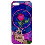 Enchanted Rose Stained Glass Apple iPhone 5 Hardshell Case with Stand