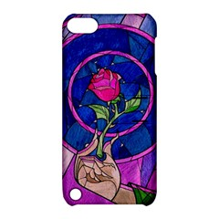 Enchanted Rose Stained Glass Apple Ipod Touch 5 Hardshell Case With Stand by Onesevenart