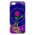 Enchanted Rose Stained Glass Apple iPhone 5 Premium Hardshell Case