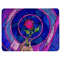 Enchanted Rose Stained Glass Samsung Galaxy Tab 7  P1000 Flip Case by Onesevenart