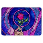Enchanted Rose Stained Glass Samsung Galaxy Tab 8.9  P7300 Flip Case