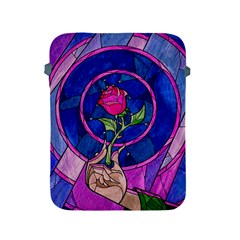 Enchanted Rose Stained Glass Apple Ipad 2/3/4 Protective Soft Cases by Onesevenart