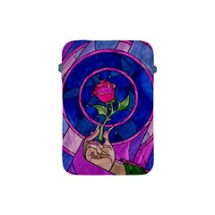 Enchanted Rose Stained Glass Apple Ipad Mini Protective Soft Cases by Onesevenart