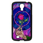 Enchanted Rose Stained Glass Samsung Galaxy S4 I9500/ I9505 Case (Black)