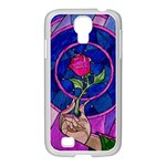 Enchanted Rose Stained Glass Samsung GALAXY S4 I9500/ I9505 Case (White)