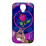 Enchanted Rose Stained Glass Samsung Galaxy S4 Classic Hardshell Case (PC+Silicone)