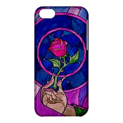 Enchanted Rose Stained Glass Apple Iphone 5c Hardshell Case by Onesevenart