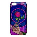 Enchanted Rose Stained Glass Apple iPhone 5C Hardshell Case