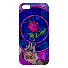 Enchanted Rose Stained Glass Iphone 5s/ Se Premium Hardshell Case by Onesevenart