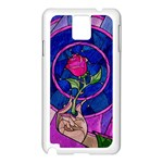 Enchanted Rose Stained Glass Samsung Galaxy Note 3 N9005 Case (White)