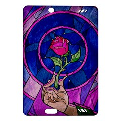 Enchanted Rose Stained Glass Amazon Kindle Fire Hd (2013) Hardshell Case by Onesevenart