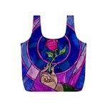 Enchanted Rose Stained Glass Full Print Recycle Bags (S)
