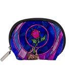Enchanted Rose Stained Glass Accessory Pouches (Small)