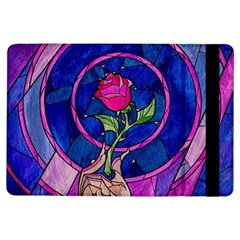 Enchanted Rose Stained Glass Ipad Air Flip by Onesevenart