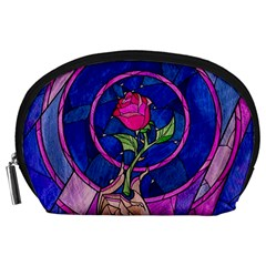 Enchanted Rose Stained Glass Accessory Pouches (large)  by Onesevenart