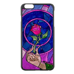 Enchanted Rose Stained Glass Apple Iphone 6 Plus/6s Plus Black Enamel Case by Onesevenart