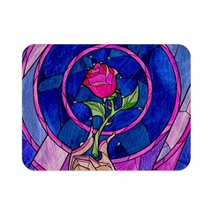 Enchanted Rose Stained Glass Double Sided Flano Blanket (mini)  by Onesevenart