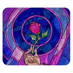 Enchanted Rose Stained Glass Double Sided Flano Blanket (small)  by Onesevenart