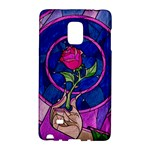 Enchanted Rose Stained Glass Galaxy Note Edge