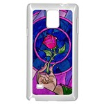 Enchanted Rose Stained Glass Samsung Galaxy Note 4 Case (White)