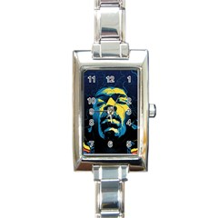 Gabz Jimi Hendrix Voodoo Child Poster Release From Dark Hall Mansion Rectangle Italian Charm Watch by Onesevenart